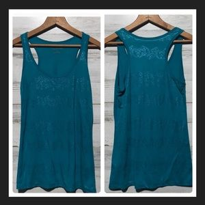 Maurices tank top small teal green